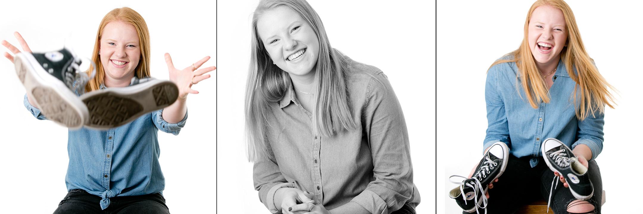 senior photos, laughing girl, headshot